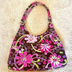 Vera Bradley Purple Punch Floral Shoulder Purse